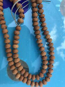 Chinese Juzu Shingon Praying Beads Genuine Lotus Bodhi Burma Jade Mala