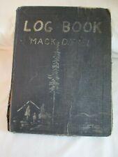 1958-61 Log Truck Drivers Log Book Footage Fuel Mileage Record Mack Diesel