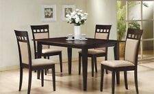 Coaster 3pc Dining Room Set |Furniture Cappuccino Wood Rectangle