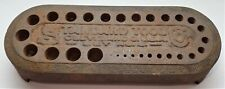 Vintage Standard Tool Co. Drill Bit Index Cast Iron Size Cleveland, Ohio