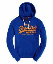 Superdry Men's Vintage Logo Tri Hoodie Pullover Hooded Sweatshirt XL NWT Blue