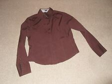 Gap button front collared shirt - colour brown - size large