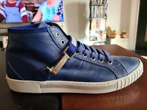 Alessandro Dell'Acqua Men's Blue Sneakers It Size 43 US 10