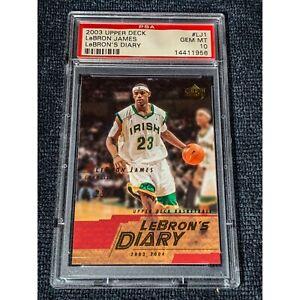 2003-04 Upper Deck LeBron's Diary- Lebron James Rookie PSA 10 GEM RC LJ1 Pop 32