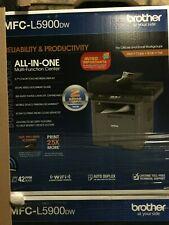 Genuine Brother MFC-L5900DW Monochrome Laser Printer, Wireless Networking