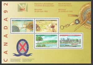 Canada 1407a sheet,MNH.Michel Bl.8. City of Montreal-350, America-500. 1992.