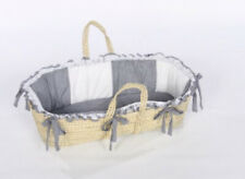 Baby Doll Bedding Gingham Moses Basket, Navy