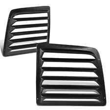 Fit 97-17 Chevy Express GMC Savana Van Pair ABS Rear Window Louvers Sun Shade