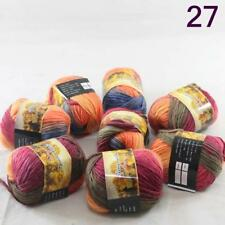 C Sale 8ballsx50g colorful Soft Chunky Hand Knitting Rainbow Wool Shawls Yarn 27