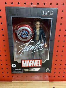 "STAN LEE Marvel Legends 6"" Figure Avengers with Chessboard & Shield NIB"
