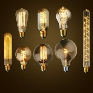 Vintage Edison Bulb E27 ST64 T10 T45 G80 G95 40W Chandelier Pendant Lights 220V