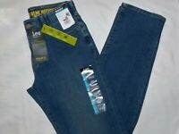 LEE Regular Fit Jeans Straight Leg Extreme Stretch Flex Waist Cromwell Med Blue