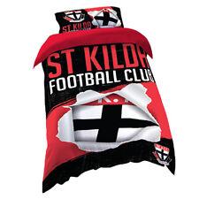 St Kilda Saints AFL SINGLE Bed Quilt Doona Duvet Cover Set *NEW 2018 GIFT Idea
