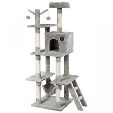 """New listing 61"""" Cat Tree Condo Kitten Multi-Level Activity Center Plush Perches w/ Hammock"""