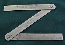 "Chesterman Metal Ruler No 891 Small & Parkes Folding 12"" Advertising Car Parts"