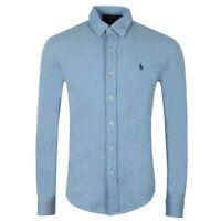 """Ralph Lauren - Men's Featherweight Mesh Shirt - L.Blue - Size Small (42"""" Chest)"""