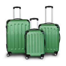 Berwin® Trolley Reisekofferset 3tlg M + L + XL Reisegepäck STRIPES GRÜN
