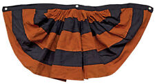 "Halloween Bunting Black & Orange 36"" wide x 17"" long, Cotton, Primitive, Country"