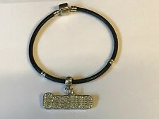 Casino Tg253 Made From Fine English Pewter on a Faux Leather Snake Bracelet