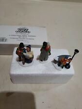 "Dept 56 Heritage Village ""A Christmas Carol Morning"" Set 3 Figurines 55883"