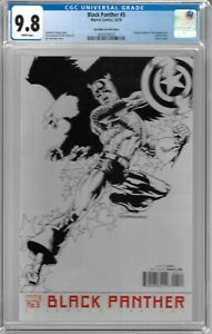 Black Panther # 5 CGC 9.8 WP Steranko variant cover, (Cap 75th anniversary)