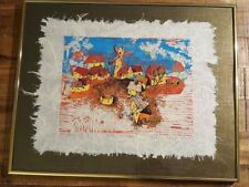 "Limited Edition YANKEL GINZBURG Japanese Rice Paper Wood-cut - ""THE VILLAGE"""