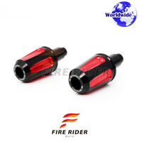 Red FAIZ CNC Bar Ends Covers Set For Yamaha YZF R1 1998-2005 98 99 00 01 02 03