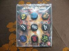 Badges Pin's STAR WARS Quick 2012   (Lot de 9)  Sous Plastique