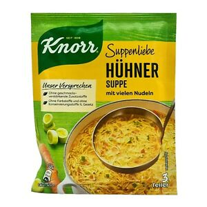 5x Knorr Suppenliebe 🍲 Hühner Suppe chicken noodle soup  ✈TRACKED SHIPPING