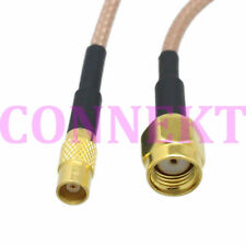 RP-SMA male jack center to MCX female straight RG316 cable jumper pigtail 15cm
