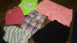6 Pair of Shorts sz 5 to 6 PINK, Aeropostale, SO, Kona Sol, Abercrombie, more