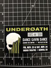 Underoath Dance Gavin Dance The Plot In You Ogden Theatre Concert Patch