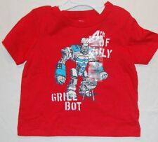 NWT OshKosh 12 months Short Sleeve Shirt 4th of July Grill Bot