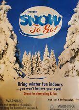 Us seller, 1 tsp baggie of Instant snow powder for slime