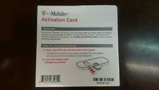 T-mobile Activation Card/Code (Sim Card And Credit Not Included)