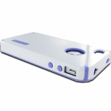 Purple White Hard Shockproof Fusion Case Cover Shield For Apple iPhone 4S 4