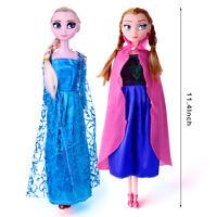 NEW Frozen Elsa Anna 11'' Inch Dolls Disney Cute Barbie Girls Figures Toys Gift