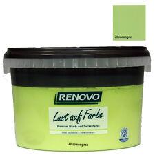 (11,95€/L) Renovo Wandfarbe -matt- Zitronengras 1 L
