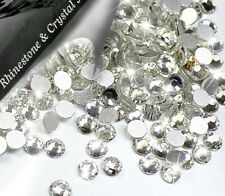 Sparkly Crystal Clear Flat Back Loose Rhinestones Mix Gems size AAA Nail Art Uk