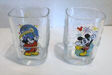 Set 2 Walt Disney World Millennium McDonalds Glasses 2000 Mickey Mouse