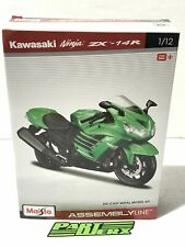 Kawasaki Ninja ZX41R Assembly Line Kit 1:12 Scale Model Motorcycle Kids Dad Gift
