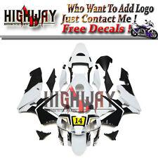 Fairings For Honda CBR600RR F5 03 04 2004 ABS Kit Bodywork Elf 14 White Black