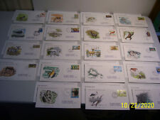 19 International Addressed Cacheted Oversized World Wildlife Fdc's w/ Info Cards
