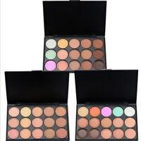 15 Colors Contour Face Cream Concealer Highlight Bronzer Powder Makeup Palette