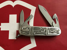 Victorinox TOOLS Carved Stainless Steel Swiss Army Knife Spartan NEW RARE