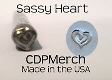 Sassy Heart Metal Design Stamp CDPMerch Metal Punch For Jewelry Blanks