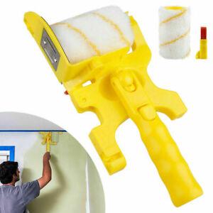 3 in 1 Clean-Cut Paint Edger Roller Brush DIY Safe Kit Room Wall Ceilings Tools*