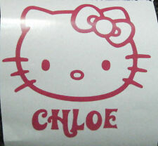 HELLO KITTY STICKER WITH NAME CAR DOOR KIDS ART TOY BOX FREE P&P