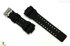 Black 16mm Rubber Watch Band for CASIOo GA-100 G-Shock GA-110 GA-120 GA-300