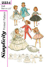 Vintage 10 1/2 inch Miss Revlon, ginger doll clothes sewing patterns-2254
